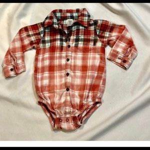 Other - Ombre Bleached Toddler's Flannel Onesie Sz 18M